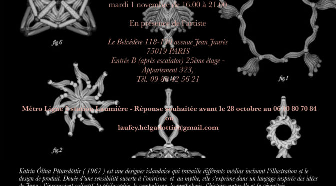 """Primitiva-Talismans"" de Katrín Olína dans l´Appart_323 le 1 novembre"